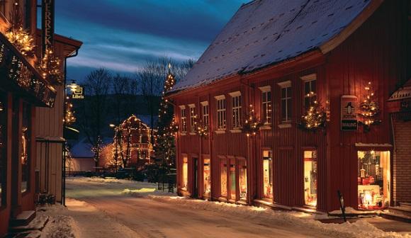 Tregaardens Weihnachtshaus in Drøbak